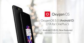 OnePlus 5 android 8.0 oreo