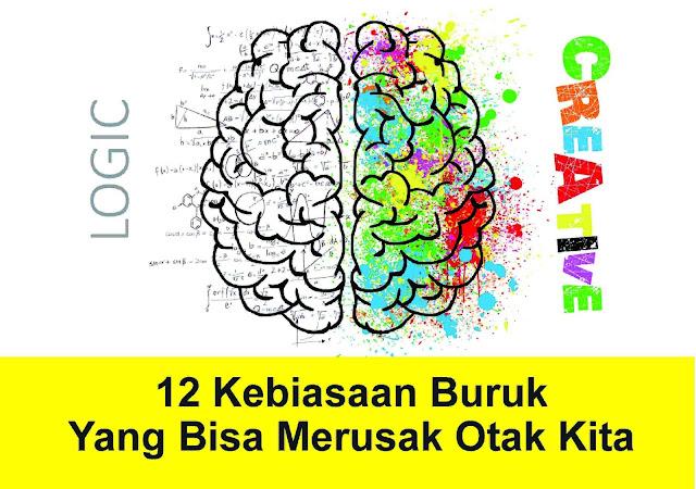 Otak adalah pusat kontrol dari semua aktivitas di dalam tubuh kita tapi kadang tanpa kita sadari, ternyata kita melakukan kebiasaan yang dapat menurunkan kemampuan otak kita atau bahkan dapat menyebabkan kerusakan permanen bagi otak kita. Inilah beberapa kebiasaan kita sehari-hari yang tanpa kita sadari dapat merusak otak kita.
