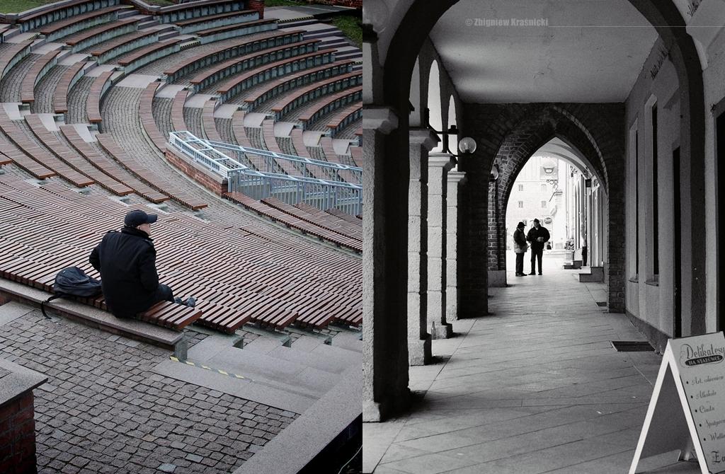 Amfiteatr i staromiejskie podcienie
