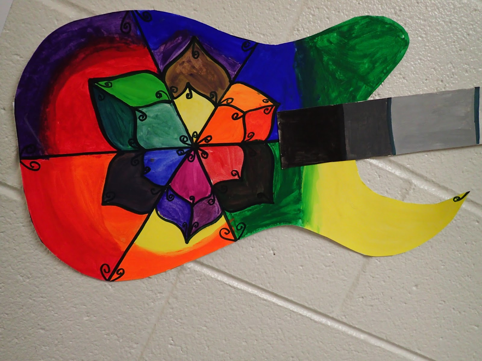 The Students Created A Basic Color Wheel With Neutral Value Scale Monochromatic Intermediate Colors Complementary