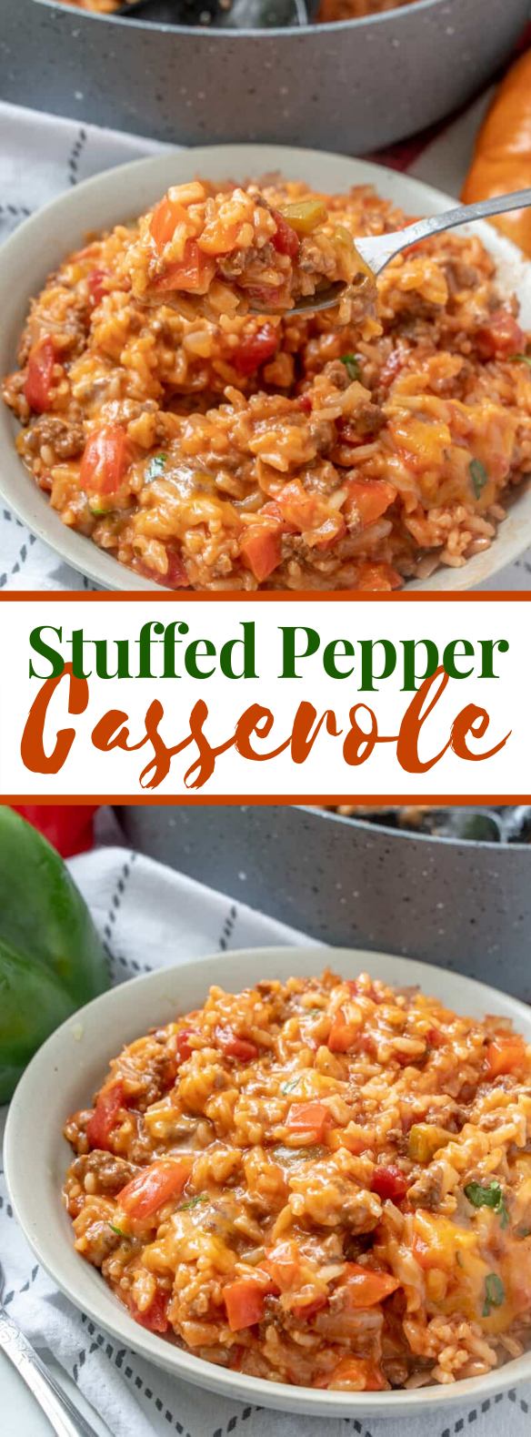 STUFFED PEPPER CASSEROLE #dinner #glutenfree