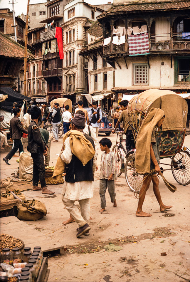 Old picture of Indrachowk, Kathmandu