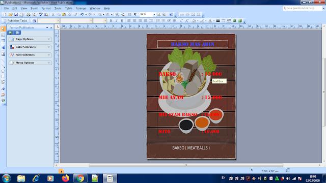 Cara Desain Daftar Menu Makanan Dengan Mudah, cara membuat desain menu makanan, cara buat daftar makanan, cara membuat daftar menu makanan menggunakan microsoft publisher