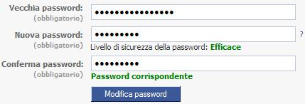 CAMBIARE LA PASSWORD DI FB