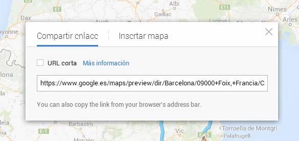 Comparte rutas Google Maps
