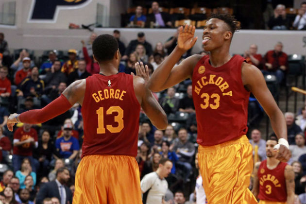 Paul George, le leader des Indiana Pacers, accompagné du rookie plein de promesses, Myles Turner