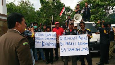 GMBI Lampung Timur Geruduk Kejari Sukadana