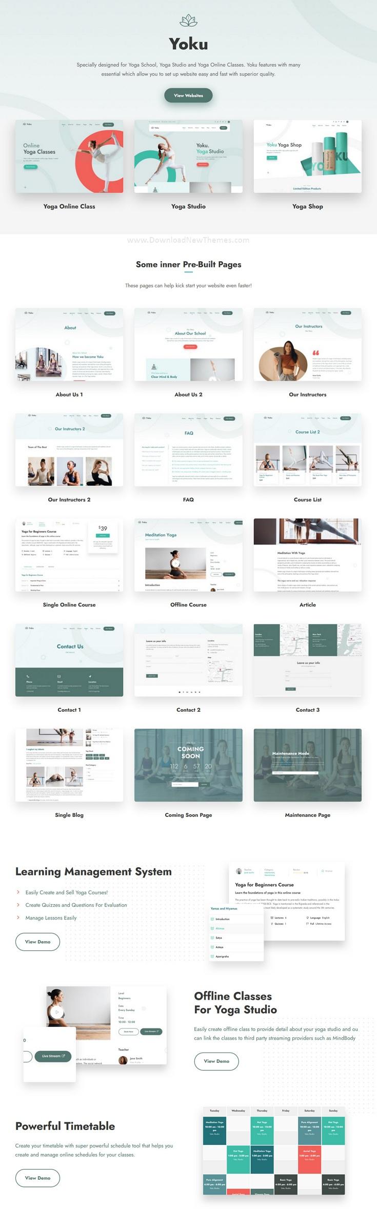 Yoga Studio & Ayurveda Website Theme