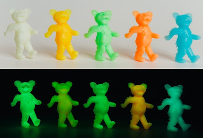 Grateful Dead Glow in the Dark Dancing Bears Keshi Mini Figures by Killer Bootlegs