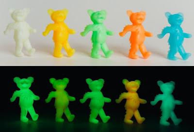 Grateful Dead Glow in the Dark Dancing Bears Keshi Mini Figures by Killer Bootlegs