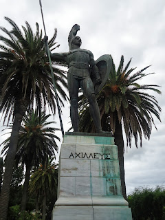 Statue Achilleion Corfu Greece