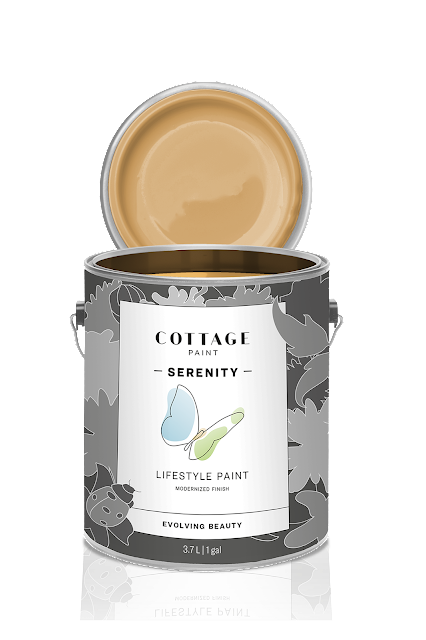 new Cottage Paint serenity can, warm glow