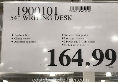 Deal for the 54-inch Writing Desk at Costco