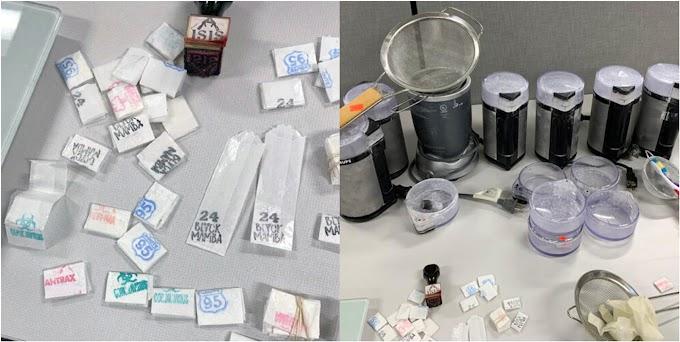 """Narco banda dominicana integrada por tres hombres y tres mujeres fabricaba drogas en El Bronx  con nombres de """"Coronavirus""""  y  """"Mamba Negra 24"""""""