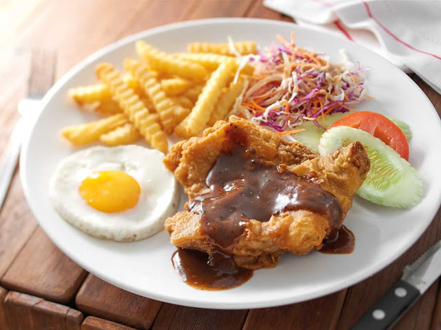 Chicken Chop With Black Pepper Sauce
