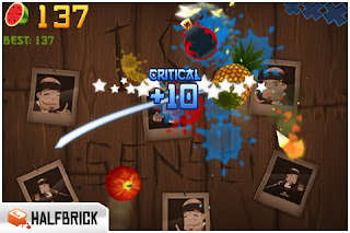 Fruit Ninja IPhone Game Fruits Slashing By Fingers 4