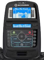 Schwinn MY17 470's blue backlit DualTrack LCD display