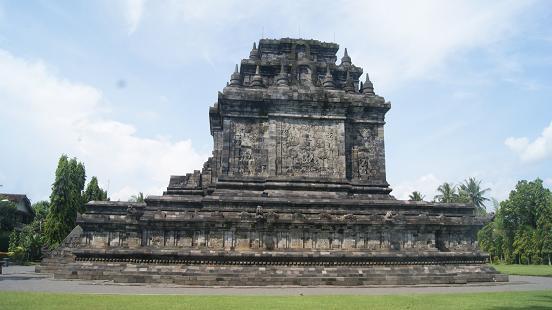 Mendut Temple in Magelang Regency, Central Java.