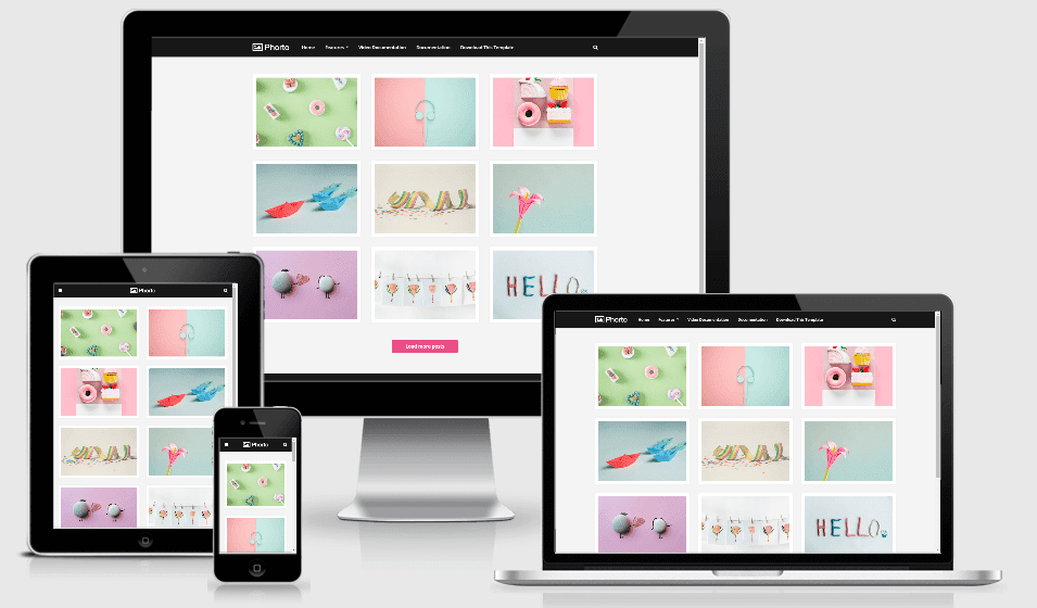Phorto - Responsive Photo Blogger Template
