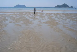 干潮時の砂浜