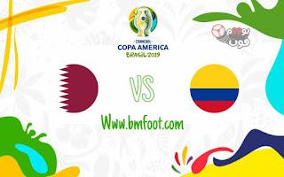 ماتش كولومبيا ضد قطر بث مباشر