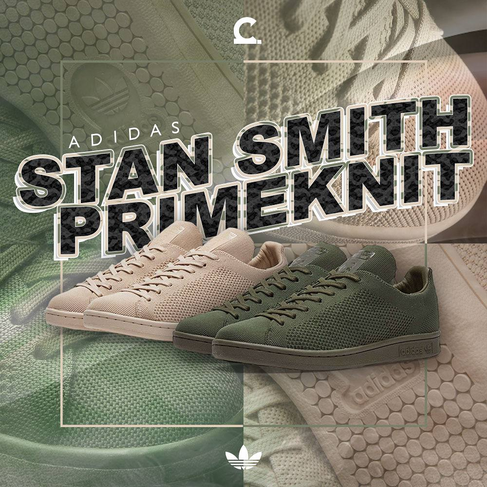 Two more adidas Originals Stan Smith Primeknit colorways dropped yesterday  at Capital. Night Cargo and Clay Brown monotone color blocking were used  which is ... 0f277b37c