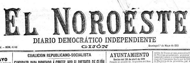 Cabecera del diario gijonés El Noroeste