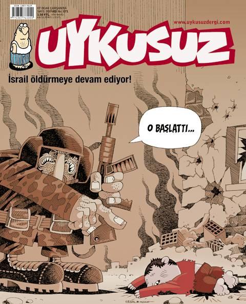 israil asker çocuk karikatür