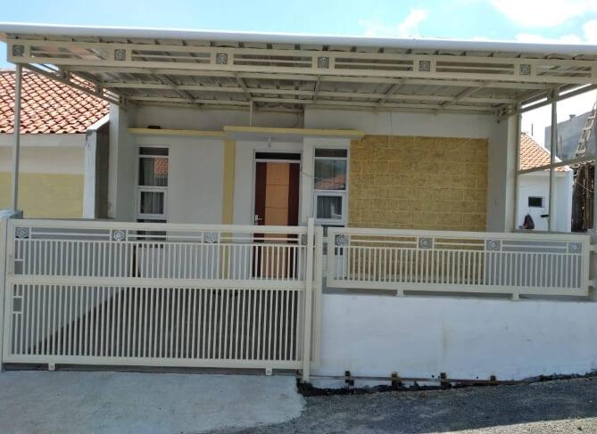 Tampak depan Rumah Minimalis Sederhana 1 Lantai