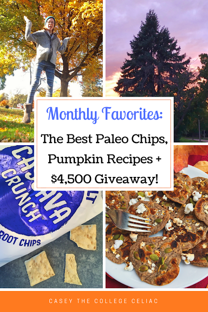Gluten Free Monthly Favorites: The Best Paleo Chips, a $4,500 Giveaway and More!