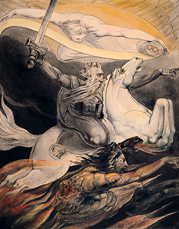 Death on a Pale White Horse, William Blake (1800)