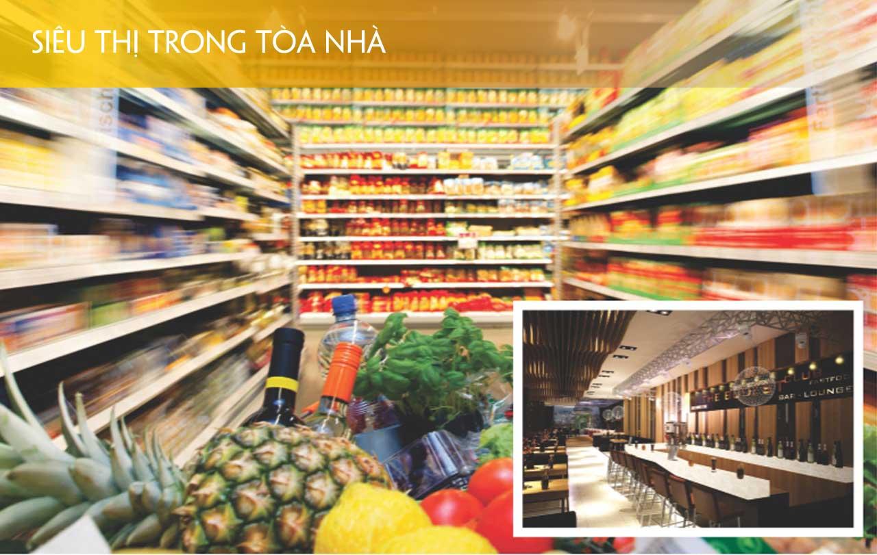 Hệ thống siêu thị trong tòa nhà 176 định công