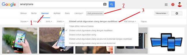 penelusuran gambar gratis legal dengan google