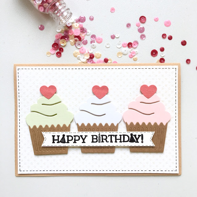 Cupcake Cards and Ideas by Angela Tombari for BoBunny DT using BoBunny Dies