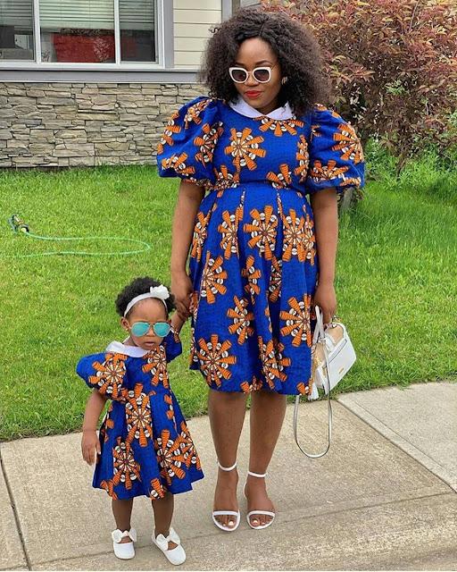 2019 Lovely Ankara Styles for Mother and Daughter