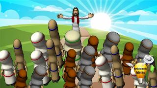 Jesus ensinando a uma multidão