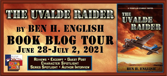 The Uvalde Raider book blog tour promotion banner
