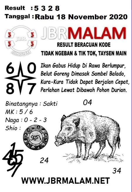JBR Malam HK Rabu