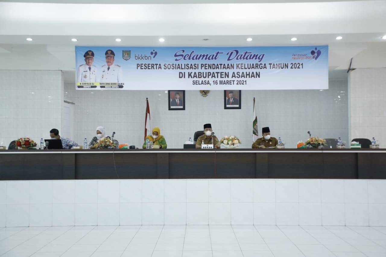 Dinas P2KBP3A Kabupaten Asahan Sosialisasikan Pendataan Keluarga Tahun 2021