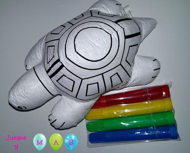 muñecos para colorear, pinta tu propio juguete, tiger, tortuga, rotuladores, muñecos para pintar, juguetes, creatividad