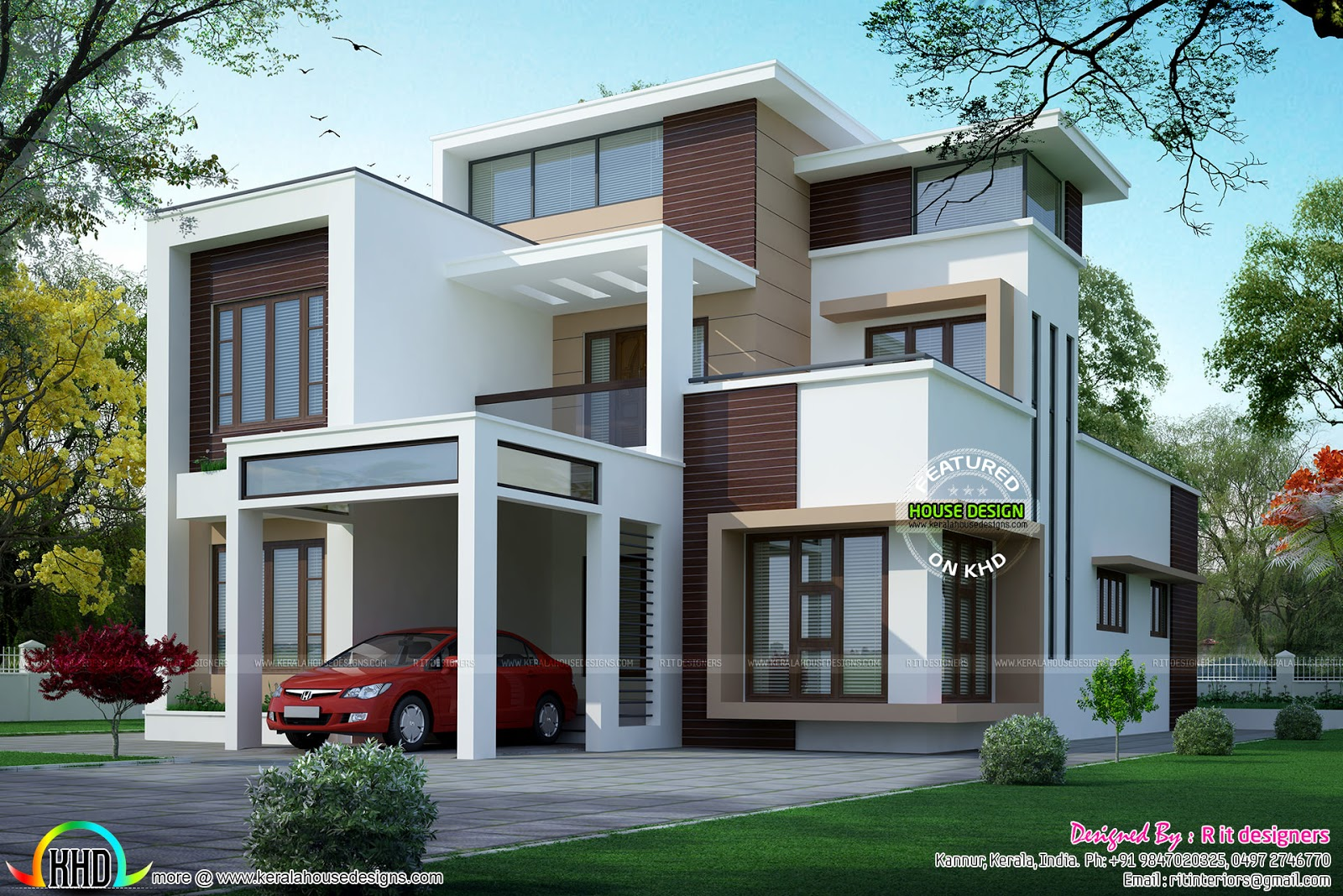 See floor plans read more please follow kerala home design - Design Style Modern Flay Roof Floor Plan And Facilities Of This House Read More Please Follow Kerala Home Design