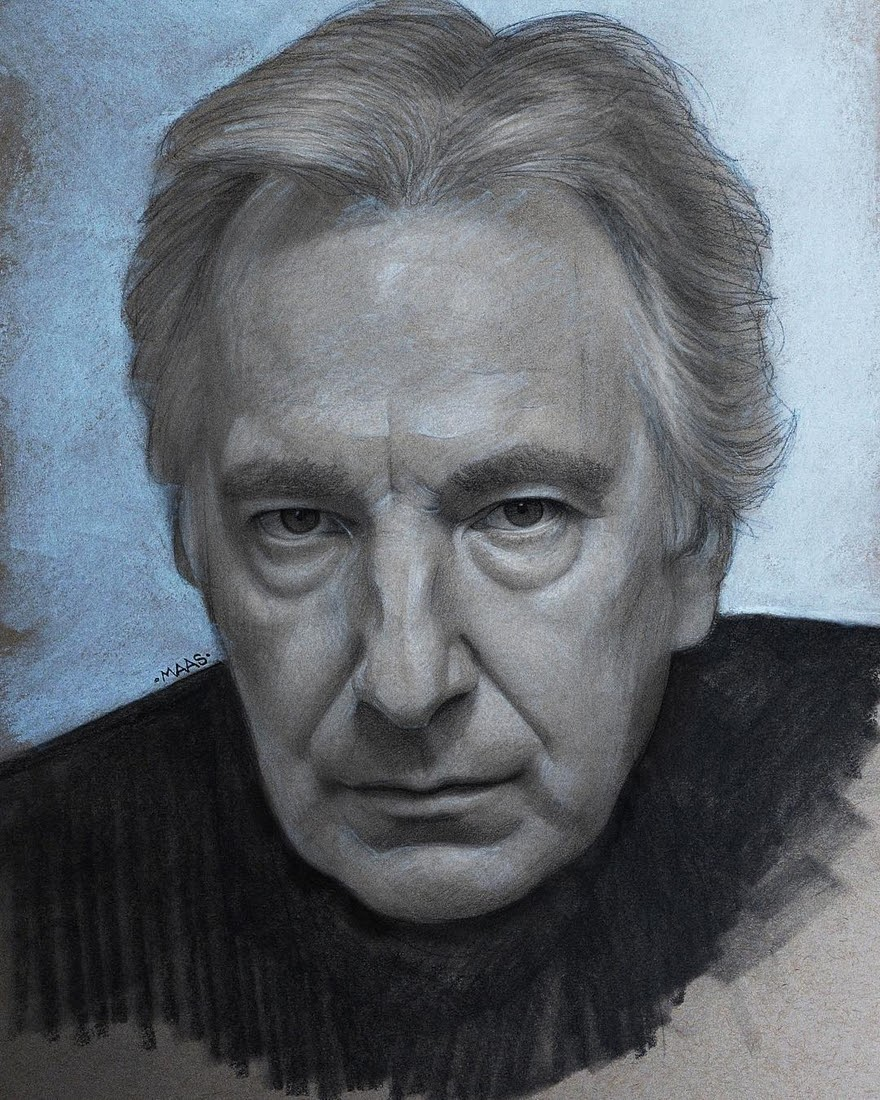 05-Alan-Rickman-Justin-Maas-Pastel-Charcoal-and-Graphite-Celebrity-Portraits-www-designstack-co