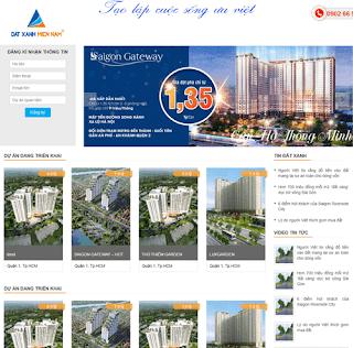 Giao diện Website Bất động sản Bán nhà, Dự án - Theme Blogspot Bất động sản - Blogspotdep.com