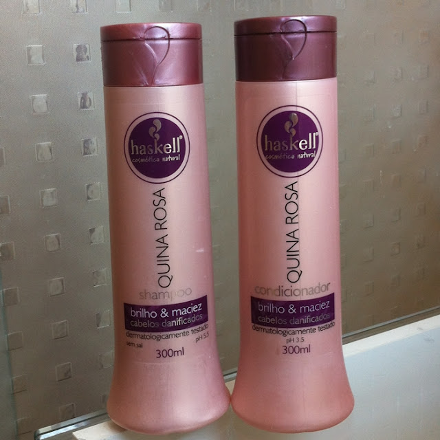 Resenha: Shampoo e Condicionador Quina Rosa - Haskell