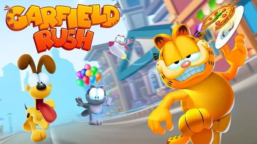 Garfield Rush هي لعبة حركة مثيرة لا نهاية لها مع وجود قطة Garfield والشخصيات في المسلسل الهزلي والرسوم المتحركة الشهير.