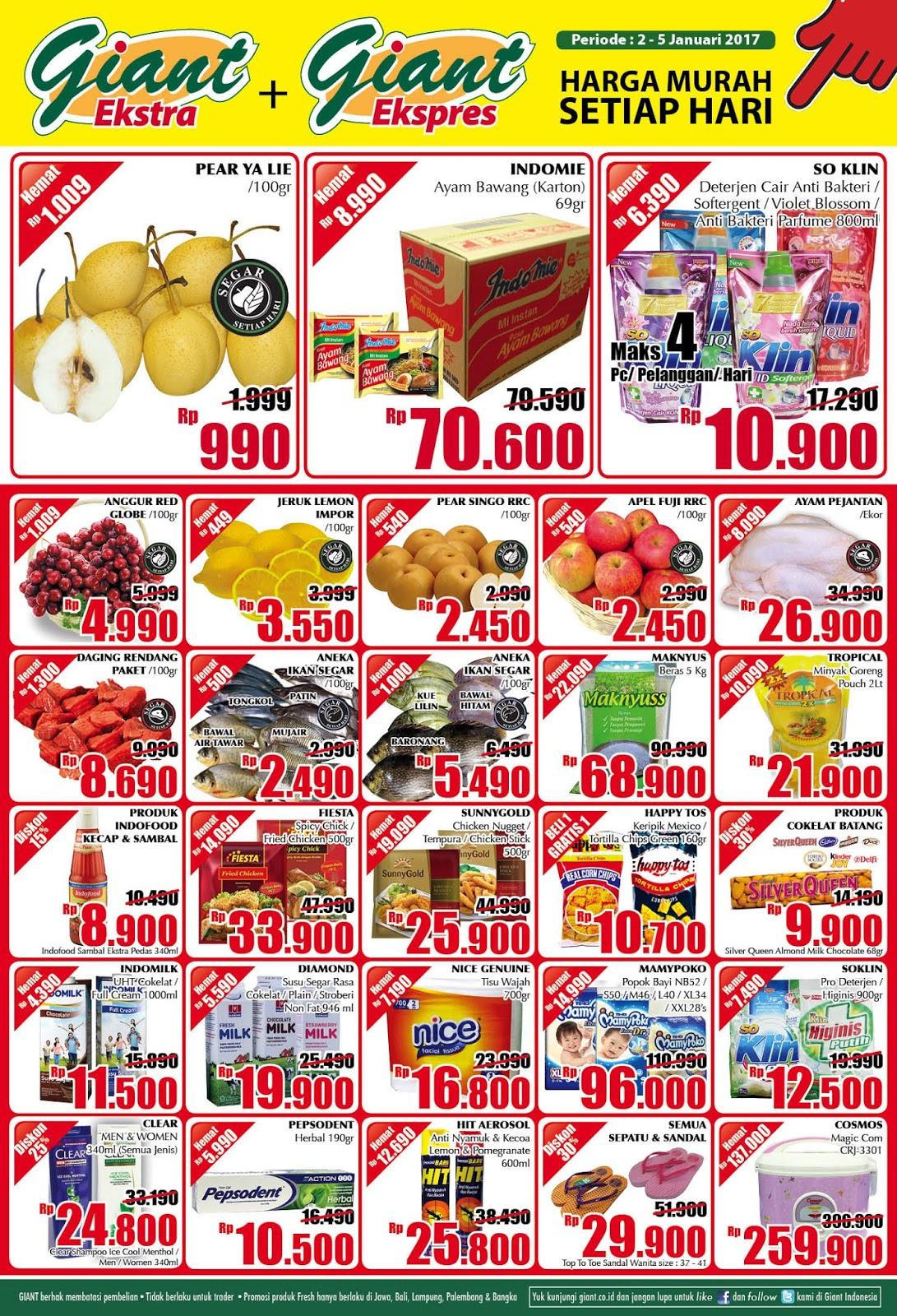 Katalog Promo Nusantara Giant Awal Pekan 2 5 Januari 2017 Voucher Superindo Rp 300000 Oke Supaya Tidaklah Terlalu Berlama Lama Lagi Segera Saja Kita Simak Product Apa Sajakah Yang Masuk Dalam Daftar