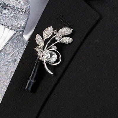 Wedding ideas-boutonnieres-glitzy-diamond-and-studs- Wayfair.com-KMich Weddings Events-Philadelphia PA