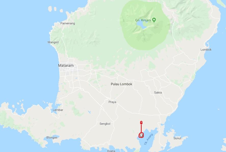 Lokasi Pantai Ujung Kelor lombok