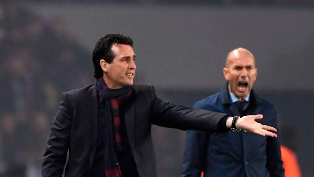 Unai Emery Arsenal FC And Zinedine Zidane Real Madrid