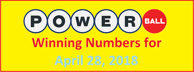 PowerBall Winning Numbers for Saturday, 28 April 2018
